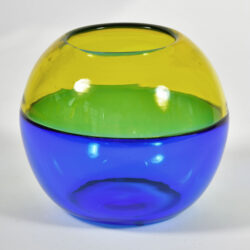The image for Murano Blue And Yellow Vase 02