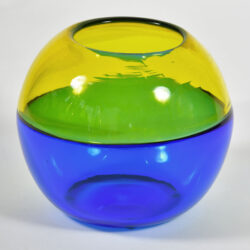 The image for Murano Blue And Yellow Vase 03
