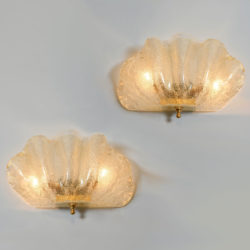 The image for Murano Clam Shell Wall Lights 01