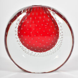 The image for Murano Red Bubble Vase 01