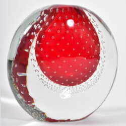 The image for Murano Red Bubble Vase 02