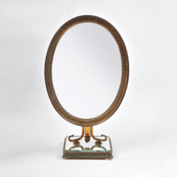 The image for Oval Filligree Mirror 01