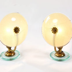 The image for Pair 1940S Flower Lamps 02