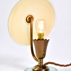 The image for Pair 1940S Flower Lamps 05