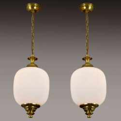 The image for Pair 1950S Italian Brass Pendants 01