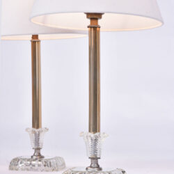 The image for Pair 1950S Us Glass Lamps 02