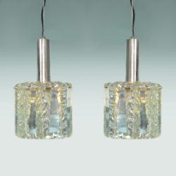 The image for Pair 1970S Glass Pendants 01