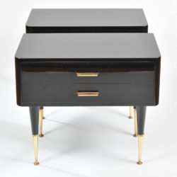 The image for Pair Black Lacquer Bedsides –2