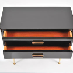 The image for Pair Black Lacquer Bedsides –7