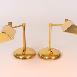 The image for Pair Brass Desk Lamps 02