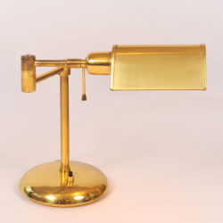 The image for Pair Brass Desk Lamps 03