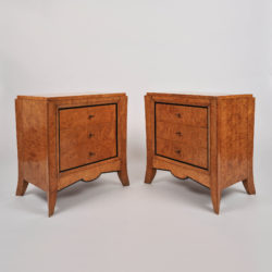 The image for Pair Burr Walnut Bedside Tables 01 Vw