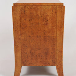 The image for Pair Burr Walnut Bedside Tables 03 Vw