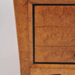 The image for Pair Burr Walnut Bedside Tables 04 Vw