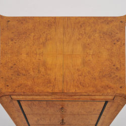 The image for Pair Burr Walnut Bedside Tables 06 Vw