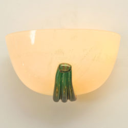 The image for Pair Buzzi Wall Lights Green Glass 04