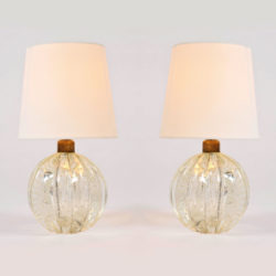 The image for Pair Clear Ball Lamps 01