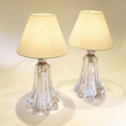 The image for Pair Clear Val St Lamps 02