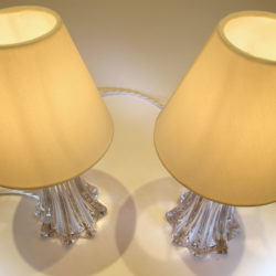 The image for Pair Clear Val St Lamps 03