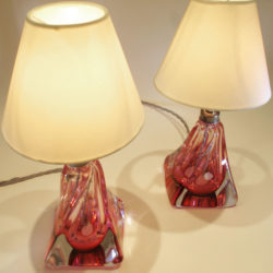 The image for Pair Cranberry Lamps 02