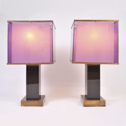 The image for Pair Double Perspex Shade Lamps 01