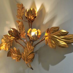 The image for Pair Gilded Peonie Wall Lights 02 Vw