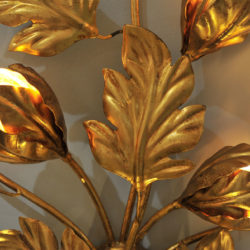 The image for Pair Gilded Peonie Wall Lights 03 Vw