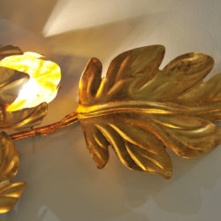 The image for Pair Gilded Peonie Wall Lights 04 Vw