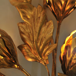 The image for Pair Gilded Peonie Wall Lights 05 Vw