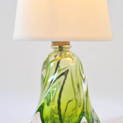 The image for Pair Green Glasss Lamps 03