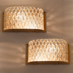 The image for Pair Italian 1950S Curved Wall Lights 01
