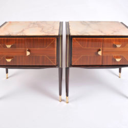 The image for Pair Italian Bedsides Marble Tops 02