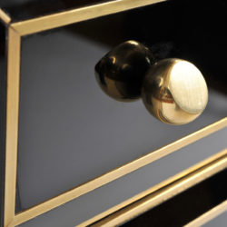 The image for Pair Italian Black Glass Bedsides 07 Vw