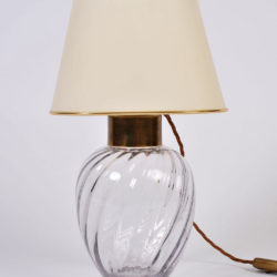 The image for Pair Italian Glass Lamps 03