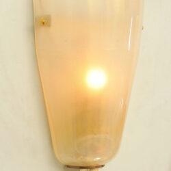 The image for Pair Italian Murano Wall Lights 02