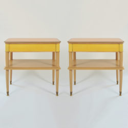 The image for Pair Italian Painted Bedsides 01