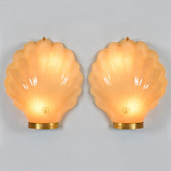The image for Pair Italian Shell Wall Lights 01