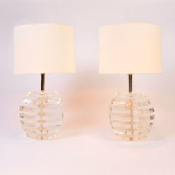 The image for Pair Lucite Ball Lamps 01