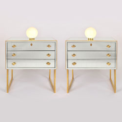The image for Pair Mirrored Bedsides 01