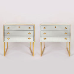 The image for Pair Mirrored Bedsides 02