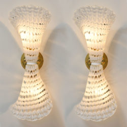 The image for Pair Murano Glass Striped Wall Lights 01