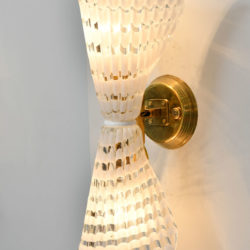 The image for Pair Murano Glass Striped Wall Lights 02