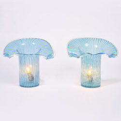 The image for Pair Organic Glass Lamps 01