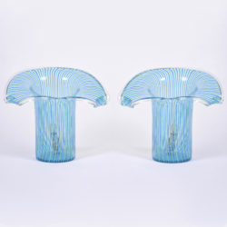 The image for Pair Organic Glass Lamps Unlit 01