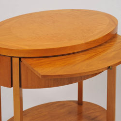 The image for Pair Oval Bedside Tables 03 Vw