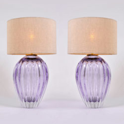 The image for Pair Purple Vase Lamps 01
