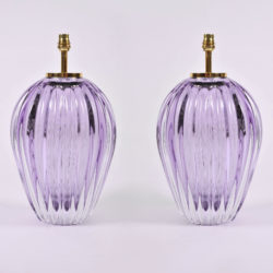 The image for Pair Purple Vase Lamps 02