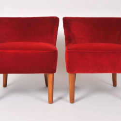 The image for Pair Red Velvet Chairs 02