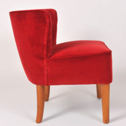 The image for Pair Red Velvet Chairs 04