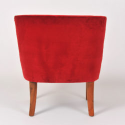 The image for Pair Red Velvet Chairs 05